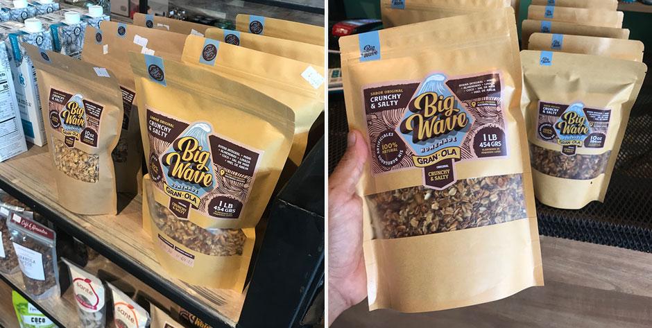 Big Wave es una marca de granola que se transformó en un emprendimiento.