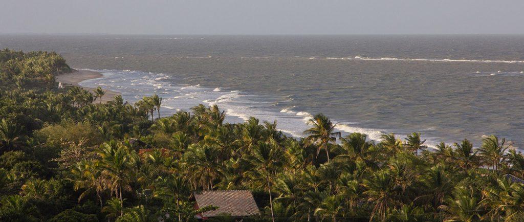 Vista de las playas de Trancos desde el Quadrado.
