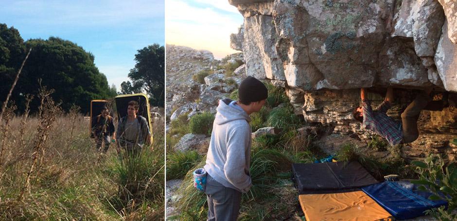 Francisco Sánchez, boulder en Sierra La Barrosa. Mayo de 2018.