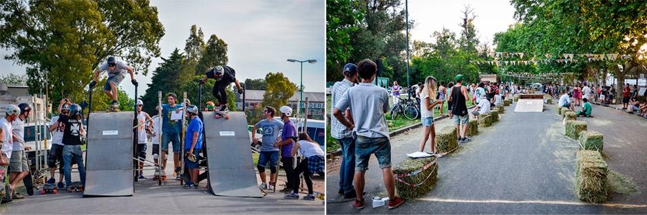 El Bosque Plain fue una competencia de longboard modalidad bordercross, algo inédito en esos tiempos. Foto; Damián Guerrero.