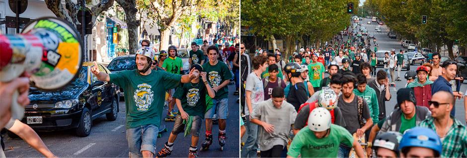 Lucas fue uno de los organizadores de la patineteada masiva Green Day 2012 en La Plata. Foto: Damián Guerrero.