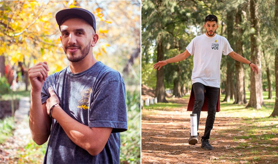 """""""El Peje"""" creó Del Mono, su propia marca de balance board y otros productos."""
